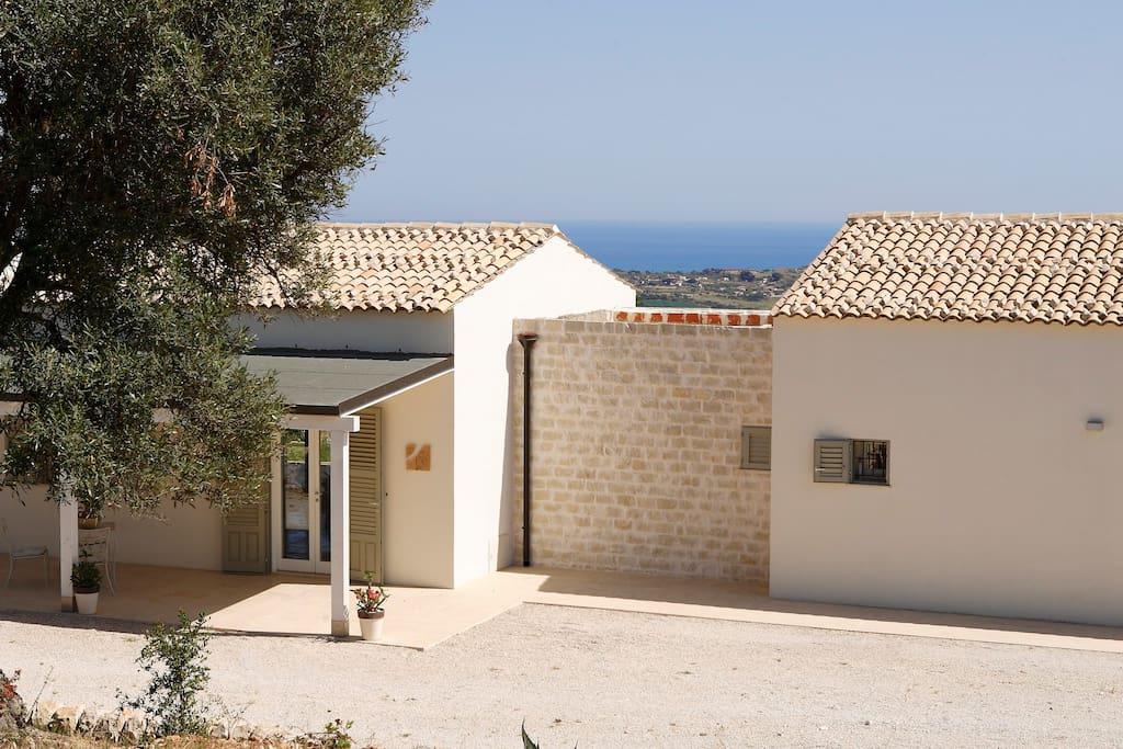 The villa and the sea