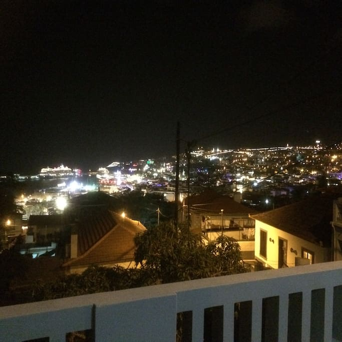 Funchal by night from our terrace...