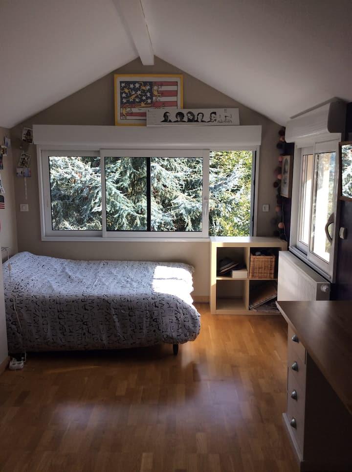 Chambre spacieuse dans très jolie maison