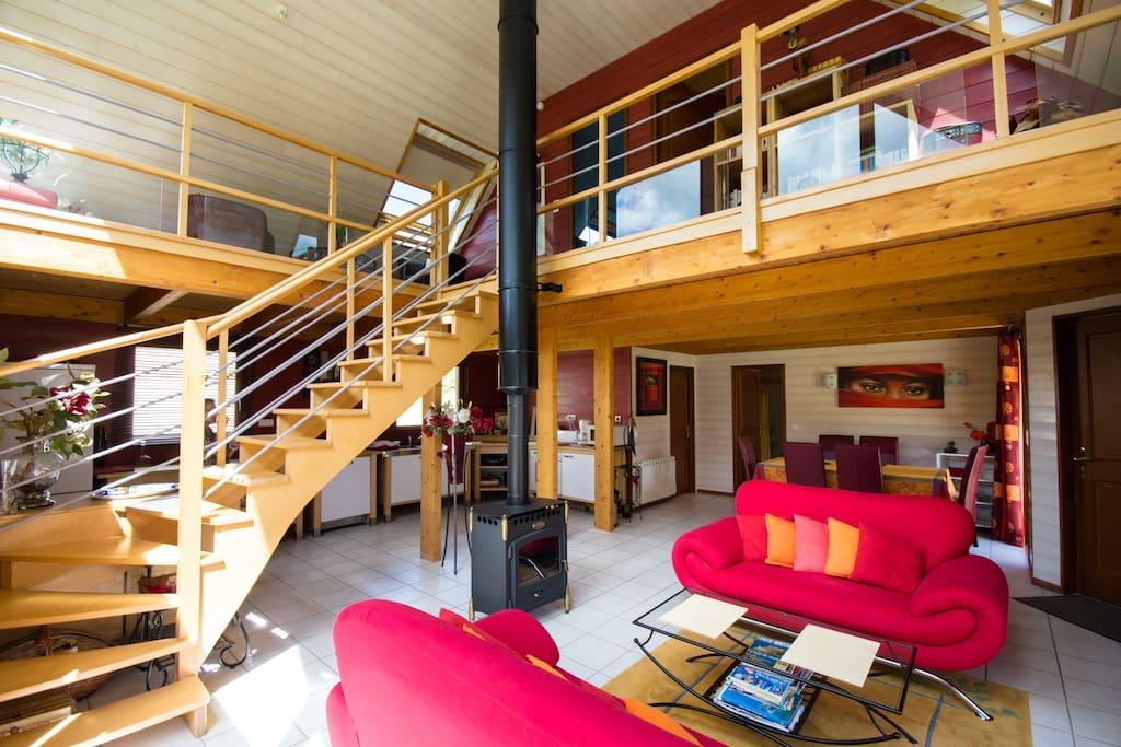 l 39 ecrin de bois et son espace bien etre h user zur miete in m r de bretagne bretagne frankreich. Black Bedroom Furniture Sets. Home Design Ideas
