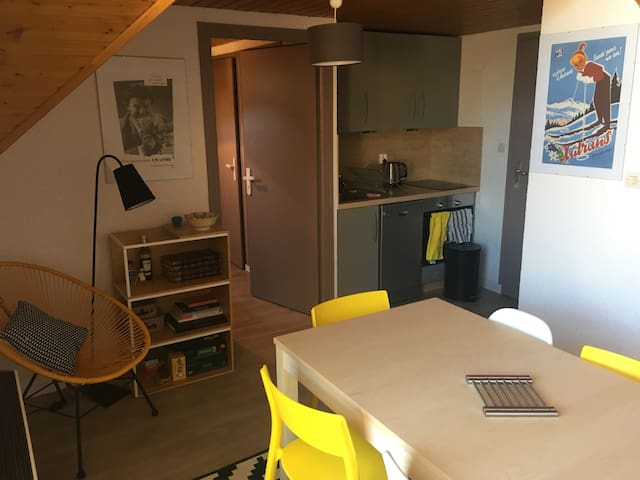 2 rooms + mezzanine in the heart of Autrans - Autrans - 公寓