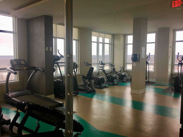 Full Gym with amazing view