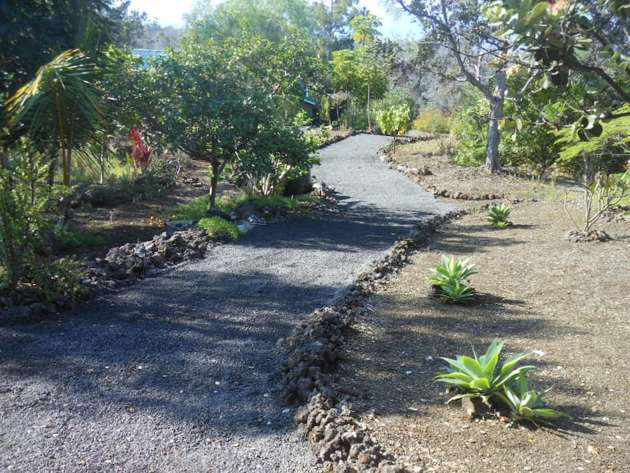 Walking path to Hale Luana