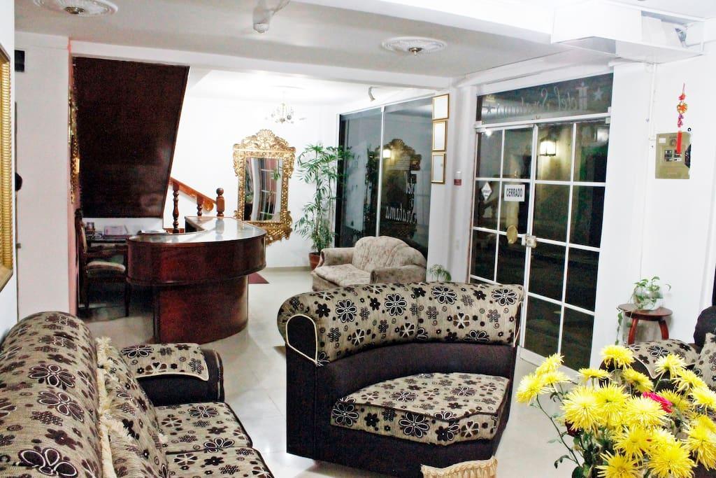 Sala de estar y recepción.
