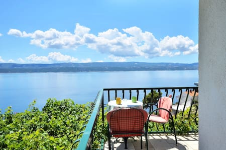 Stanici panoramic sea view, 2DB, parking, grill. -  Omis  - Appartement