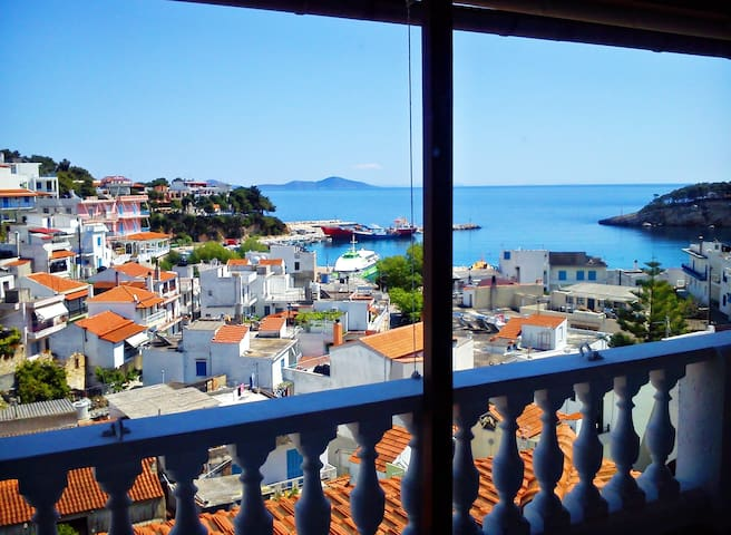 Angelos central apt#2 with sea view - Sporades - Apartment