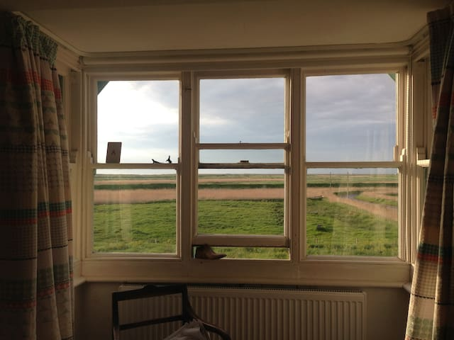 The Studio B&B. Artist RCA run. Cley. MARSH VIEWS.