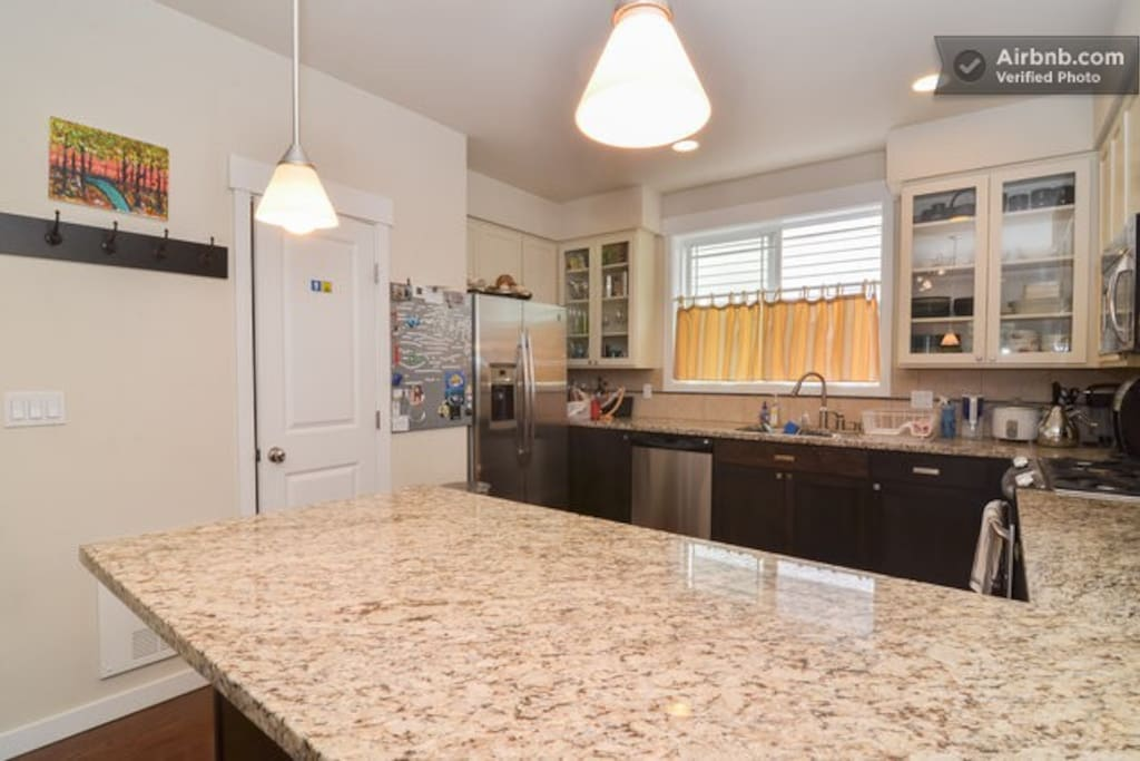 Kitchen with spacious countertop