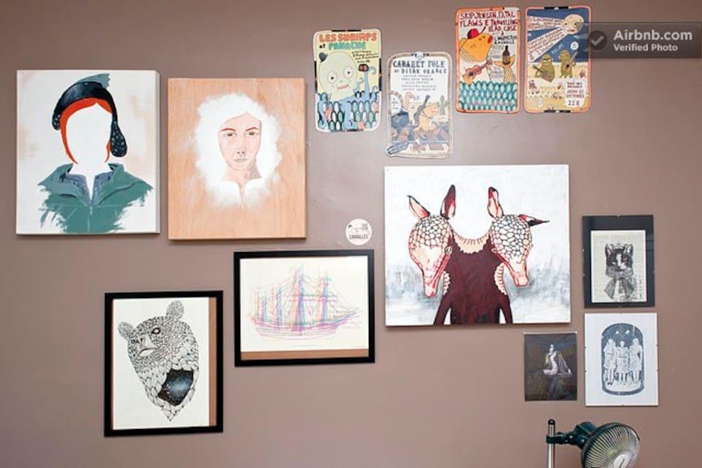 Chambre 1, art local.