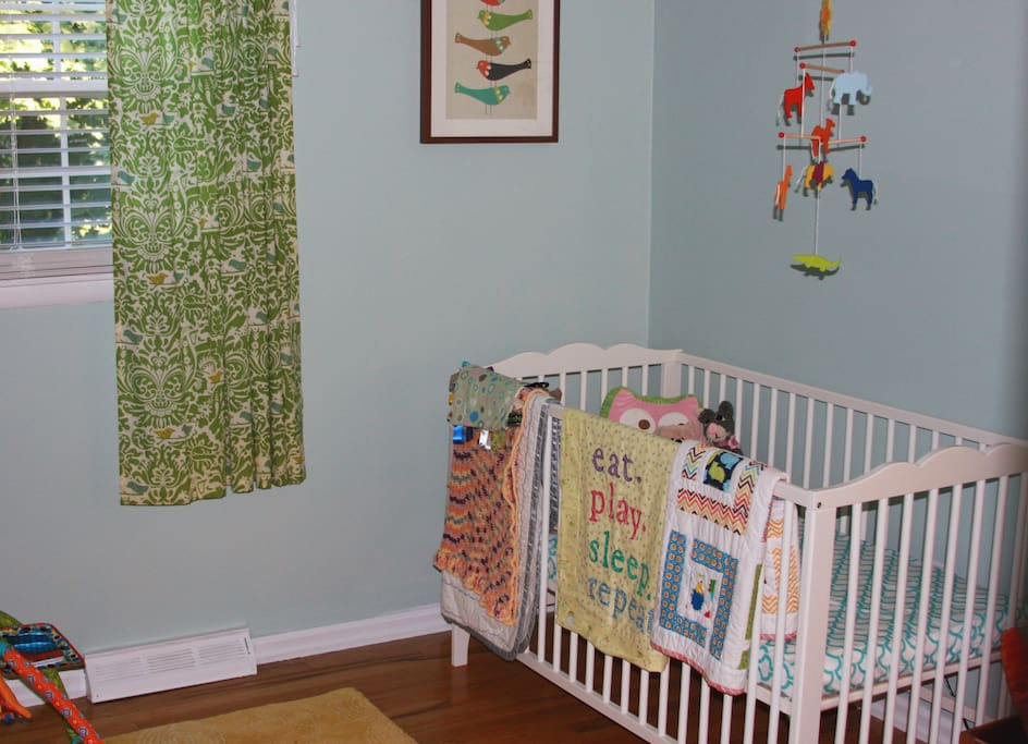 Nursery available for your use. We can also set up an air mattress in here, if you'd like!