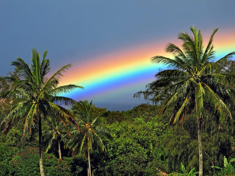 Beautiful rainbows abound and can be seen from our property!