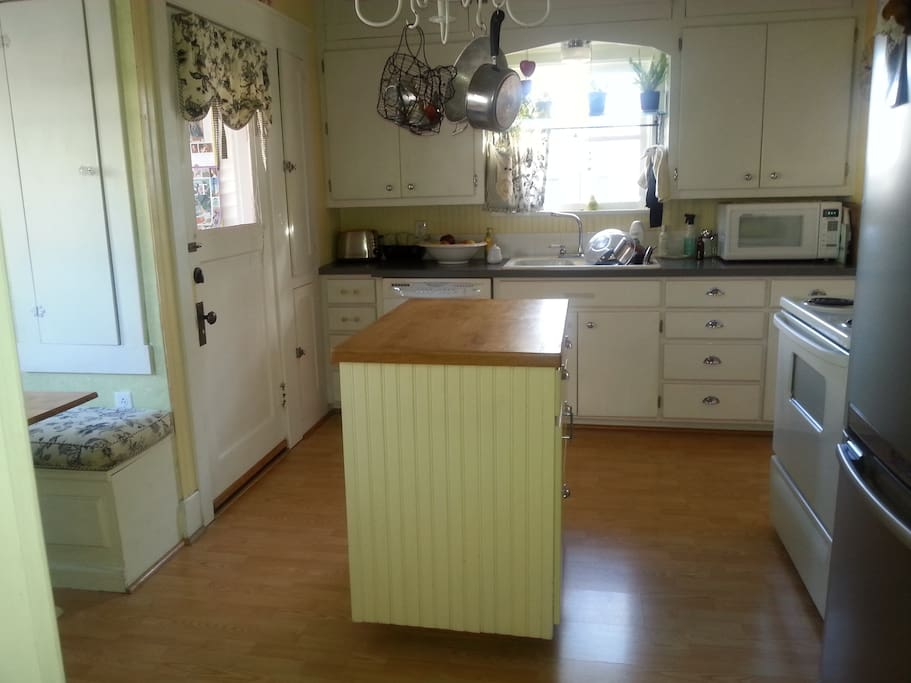 Kitchen with updated appliances.