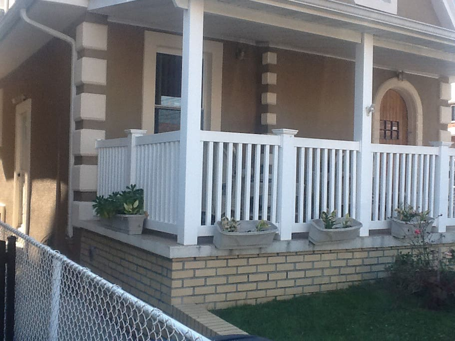 Easy access to the back deck from lower floor master bedroom!