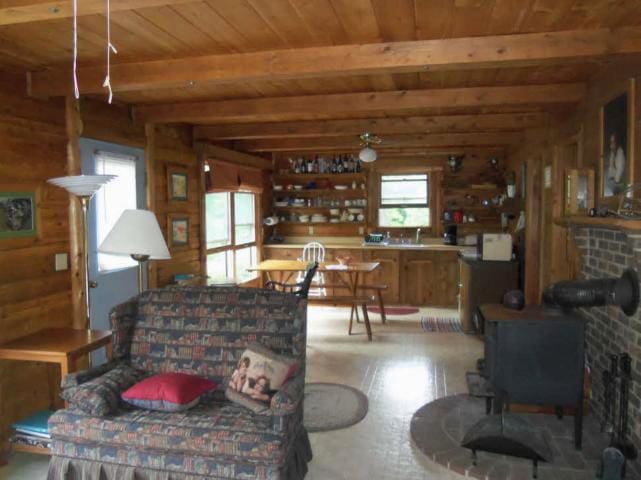 2BR Log Cabin at Mountain Meadows - Meadows of Dan - Bed & Breakfast