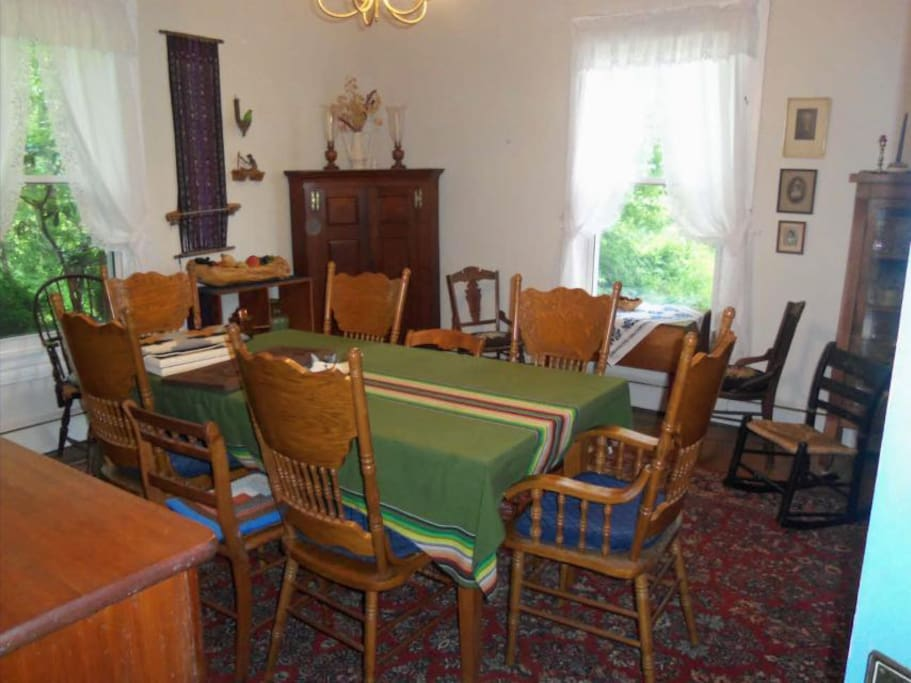 Shared dining room for eating Breakfast. May be used for other meals