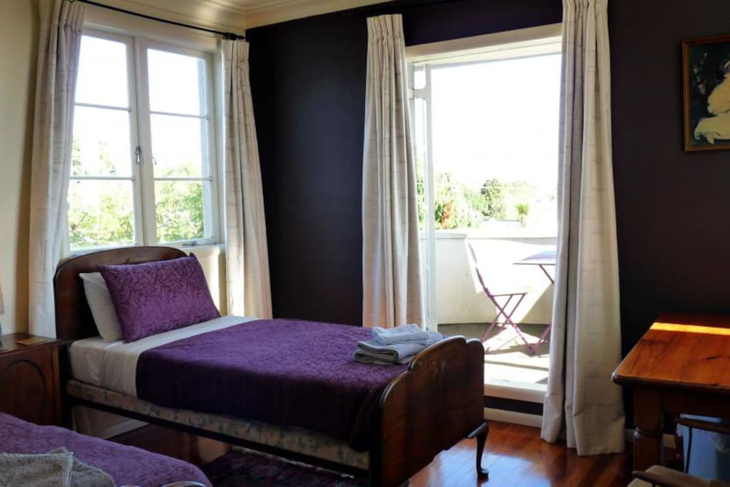 Karekare twin room with private balcony - Your Room