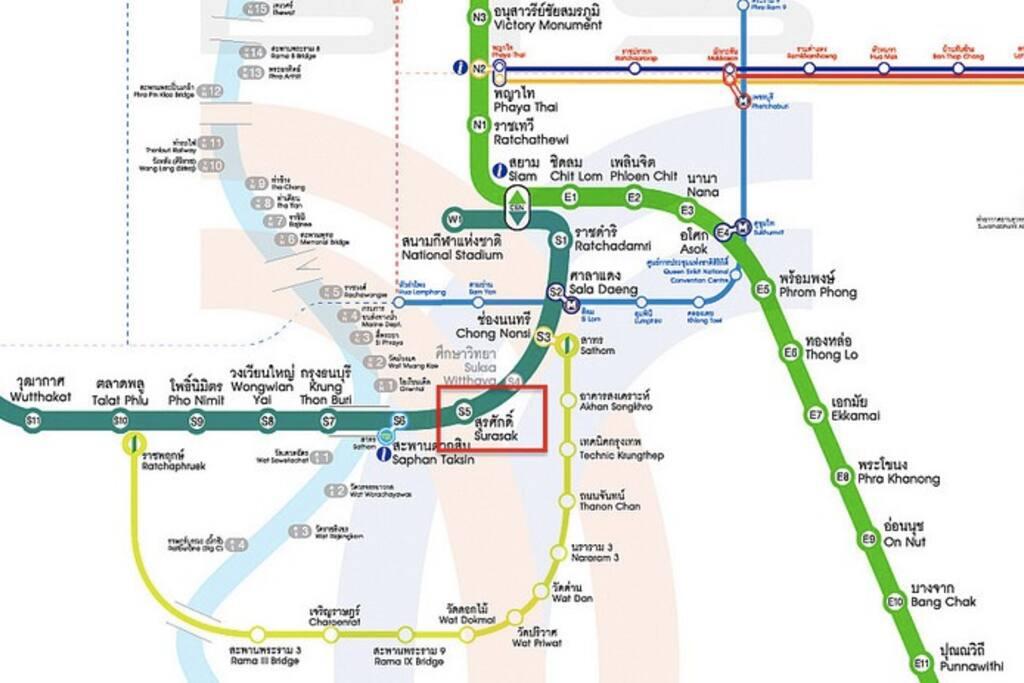 BTS line (SURASAK Station. Exit2)