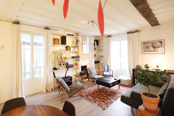 Appartement XVIIIème, Les Halles. - Tours - Flat
