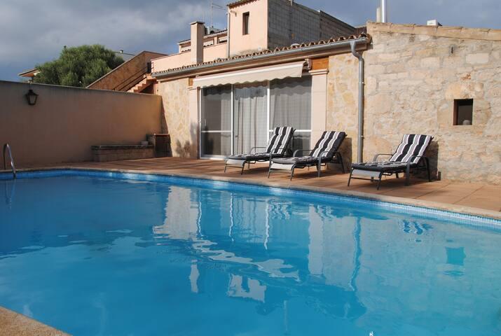 Casa acogedora con piscina - Ses Salines - Dom