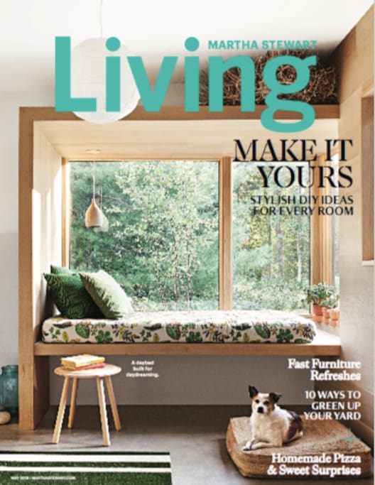 our home featured in Martha Stewart Living May 2018
