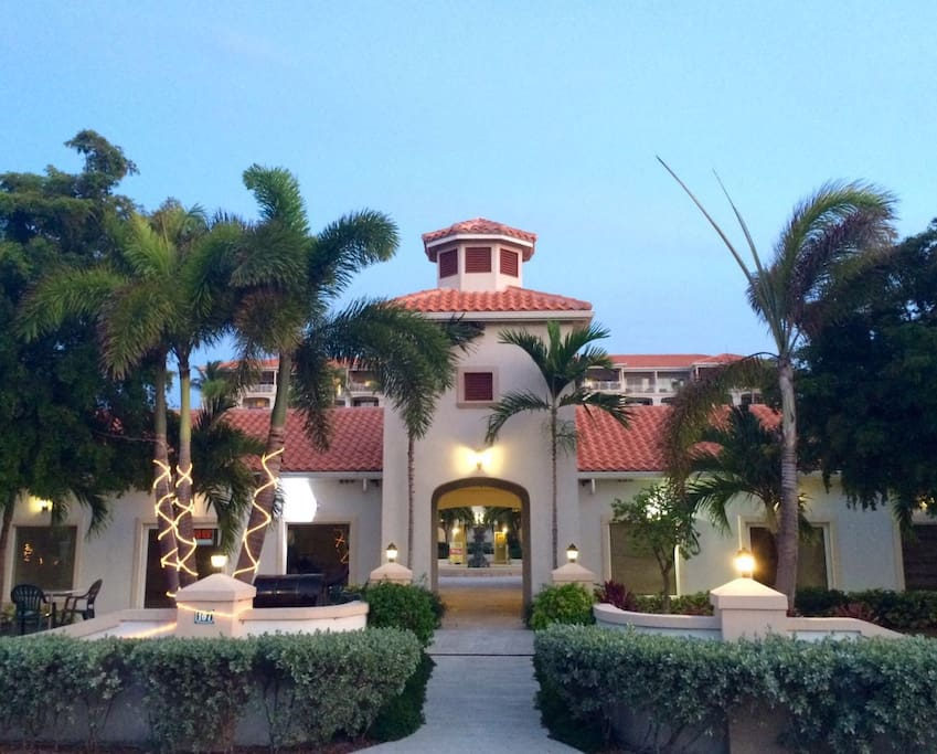 This is the entrance of the resort.