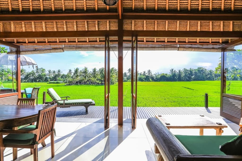 Spectacular views from your private deck at Villa Sungai.
