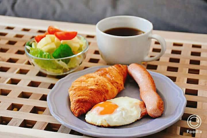 布达佩斯胖哒哒家庭旅馆,市中心景点区,舒适宽敞的大房间,每天新鲜健康早餐