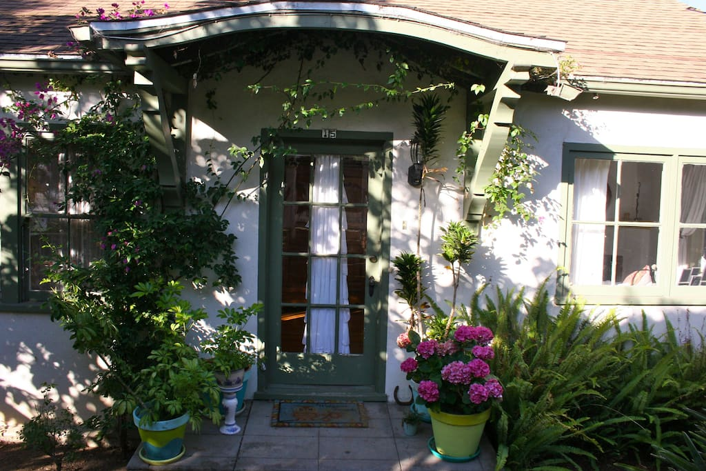 Front of the main cottage. I love the flowers in spring & summertime!
