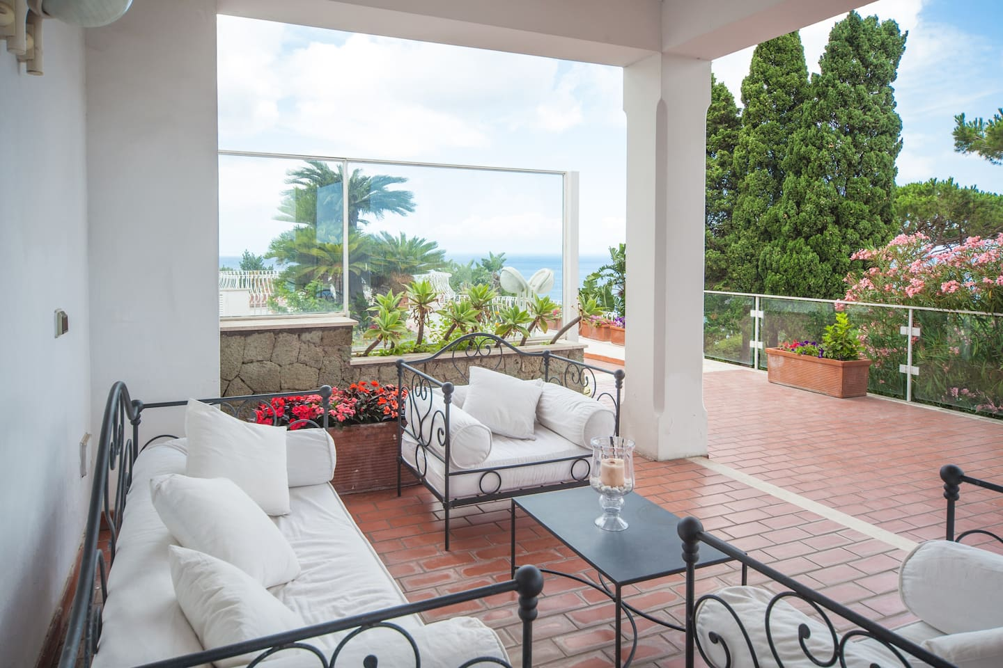 Terrace view by the sea
