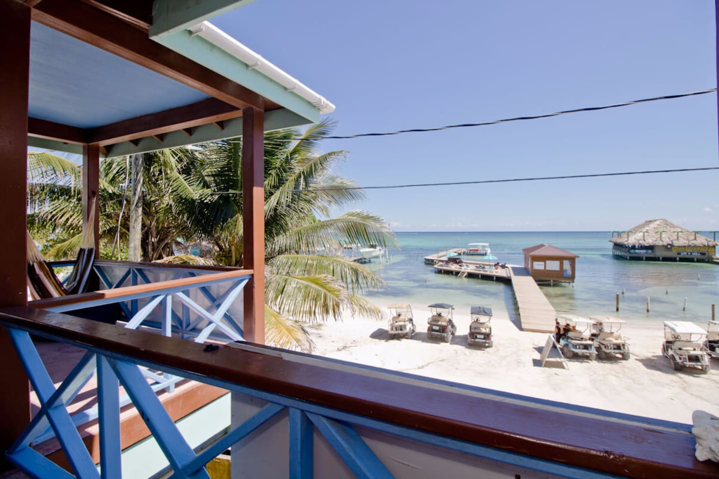 View of our over the water deck from your balcony!