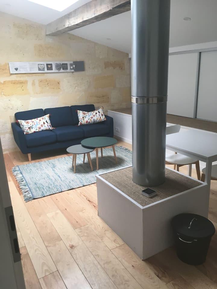 Studio 30 m2 dans maison de caractère.