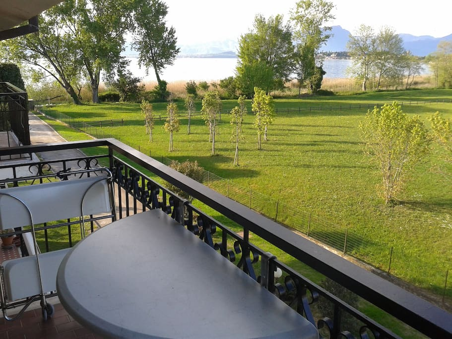 lake view from the balcony of the diningroom on the LAKE AND PARK