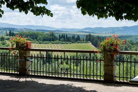 Small villa among roses in the Chianti hills - Greve in Chianti - Huoneisto