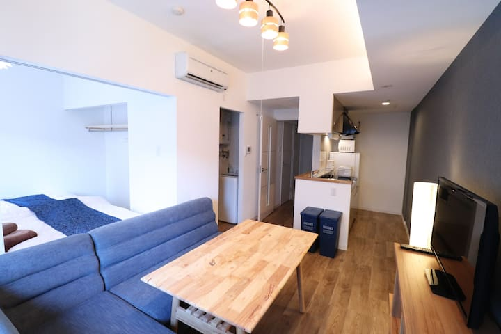 AR405/ Late Out 12:00!/1BR/Simple and Cozy room