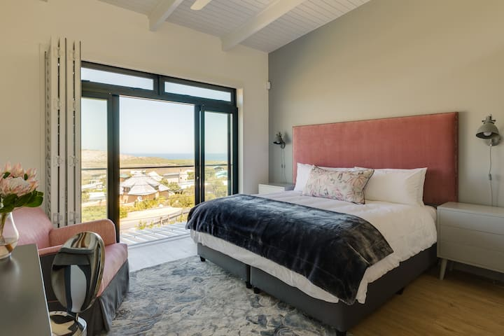 Bedroom 2 with sea and nature reserve views