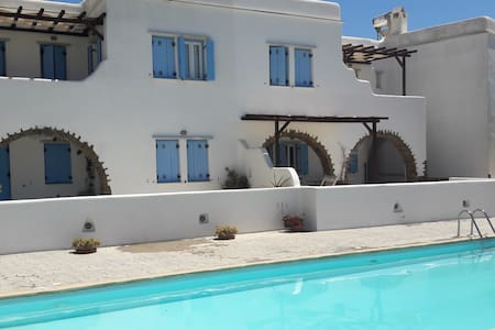 Cozy flat 100m from the beach, pool use, Tinos! - Agios Sostis - Apartment