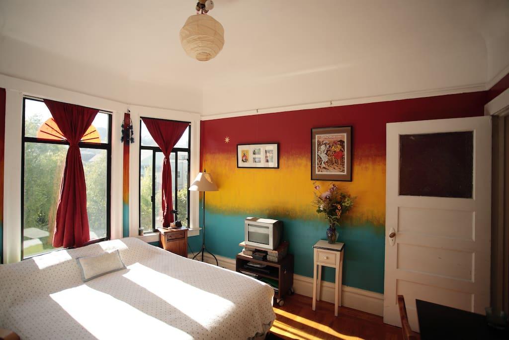Cozy, Quiet Bedroom with a View