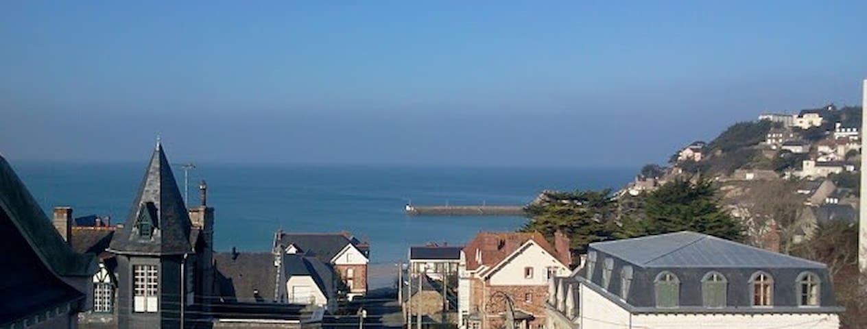 Studio vue mer panoramique 150m mer - Pléneuf-Val-André - Appartement