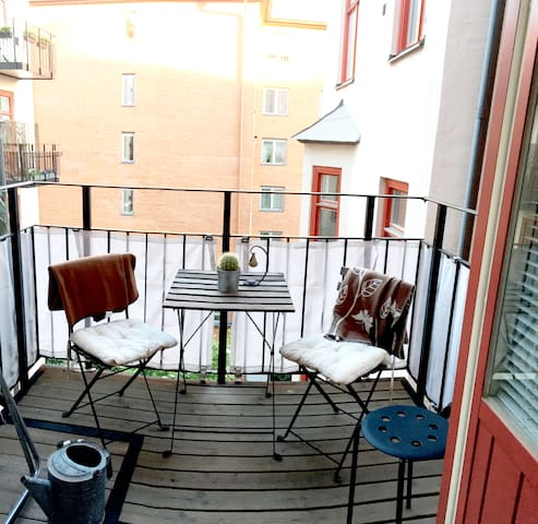 1 bed apartment with balcony in  Central Stockholm - Sztokholm - Apartament