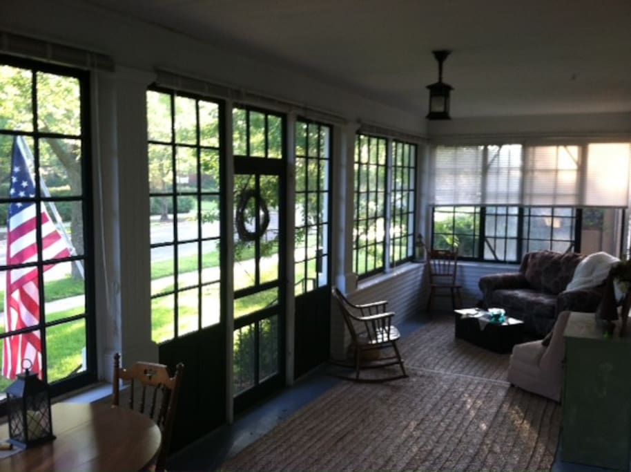 Front porch - a great place to enjoy a cup of coffee, a good book...