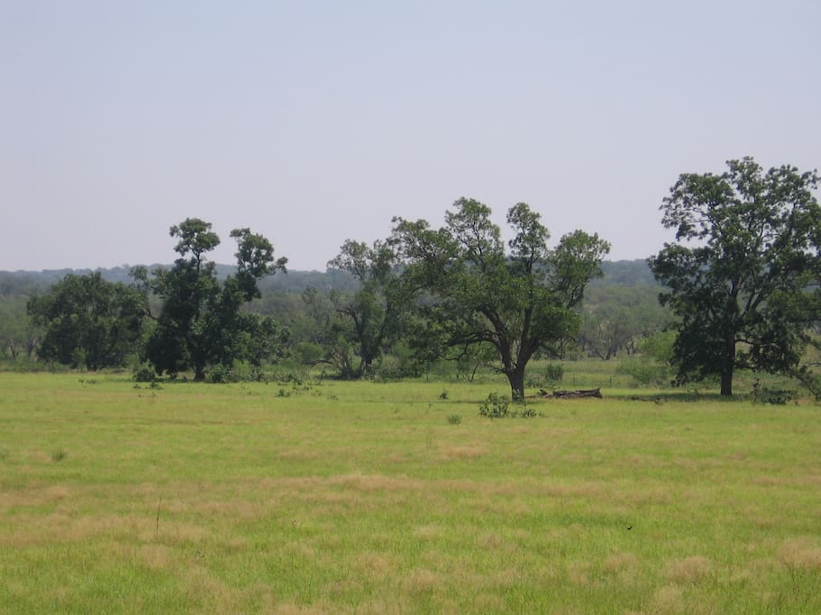 View of the Hasse Ranch from the front porch, northeast