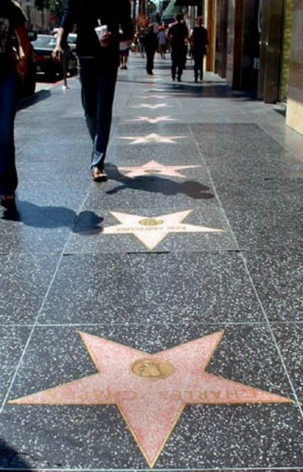 Hollywood Walk of Fame just a few blocks from the place :)
