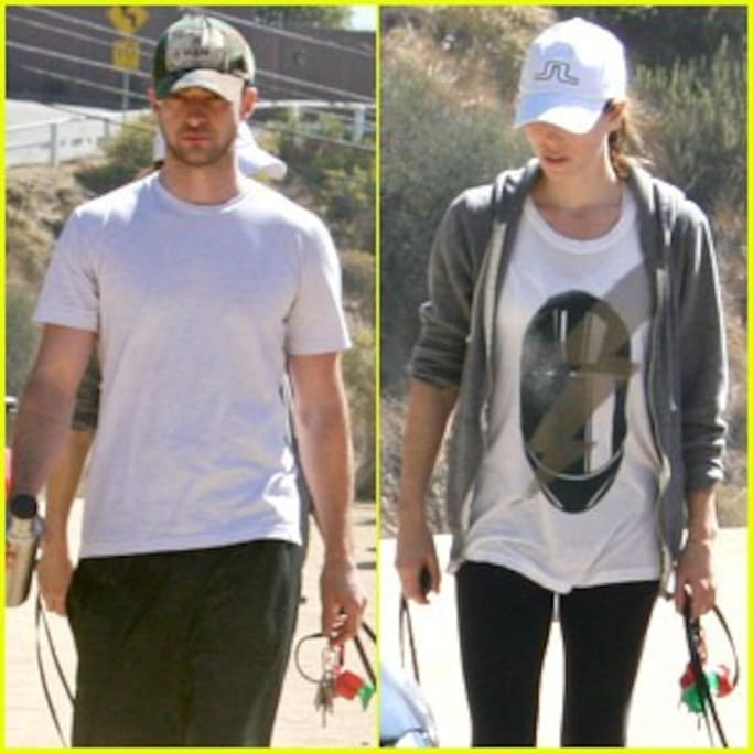 Justin Timberlake and Jessica Biel at Runyan Canyon.  10 minute walk away.