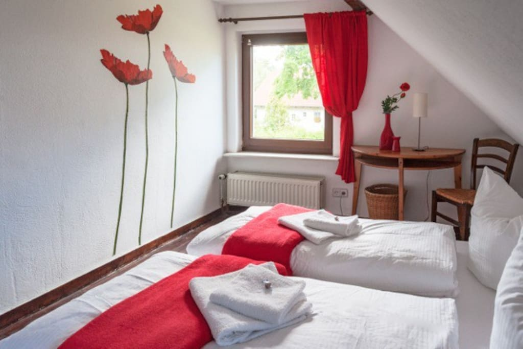 1 Doppelbett,  Bettwäsche,  Handtücher und WLAN