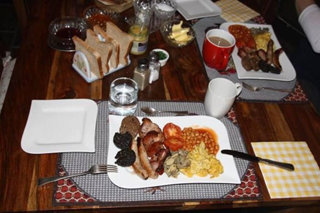 Irish Breakfast at the Willow Cottage
