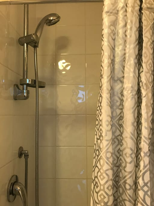 Private shower connected to the room