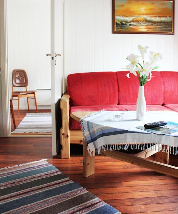 Lounge and bedroom door