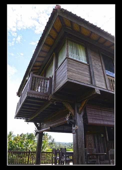 bali classic rice fields villa wooden villa h user zur miete in kabupaten tabanan bali. Black Bedroom Furniture Sets. Home Design Ideas
