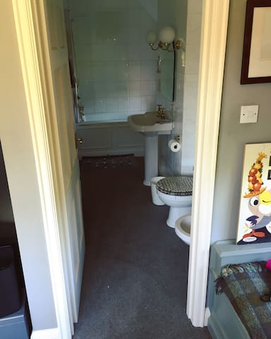 The en-suite bathroom with shower, toilet and toiletries included