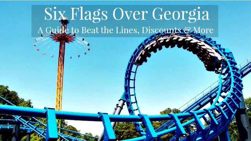 Six Flags Over Georgia Park 5mins Away (1 Bus Stop Away)